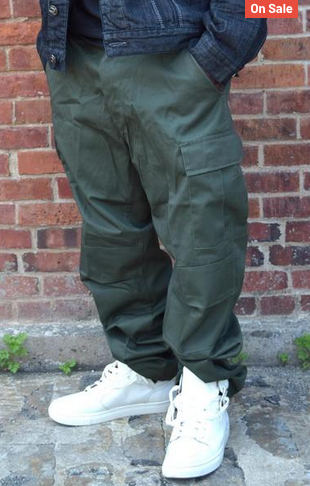 Mens Cargo Fatigue Pants