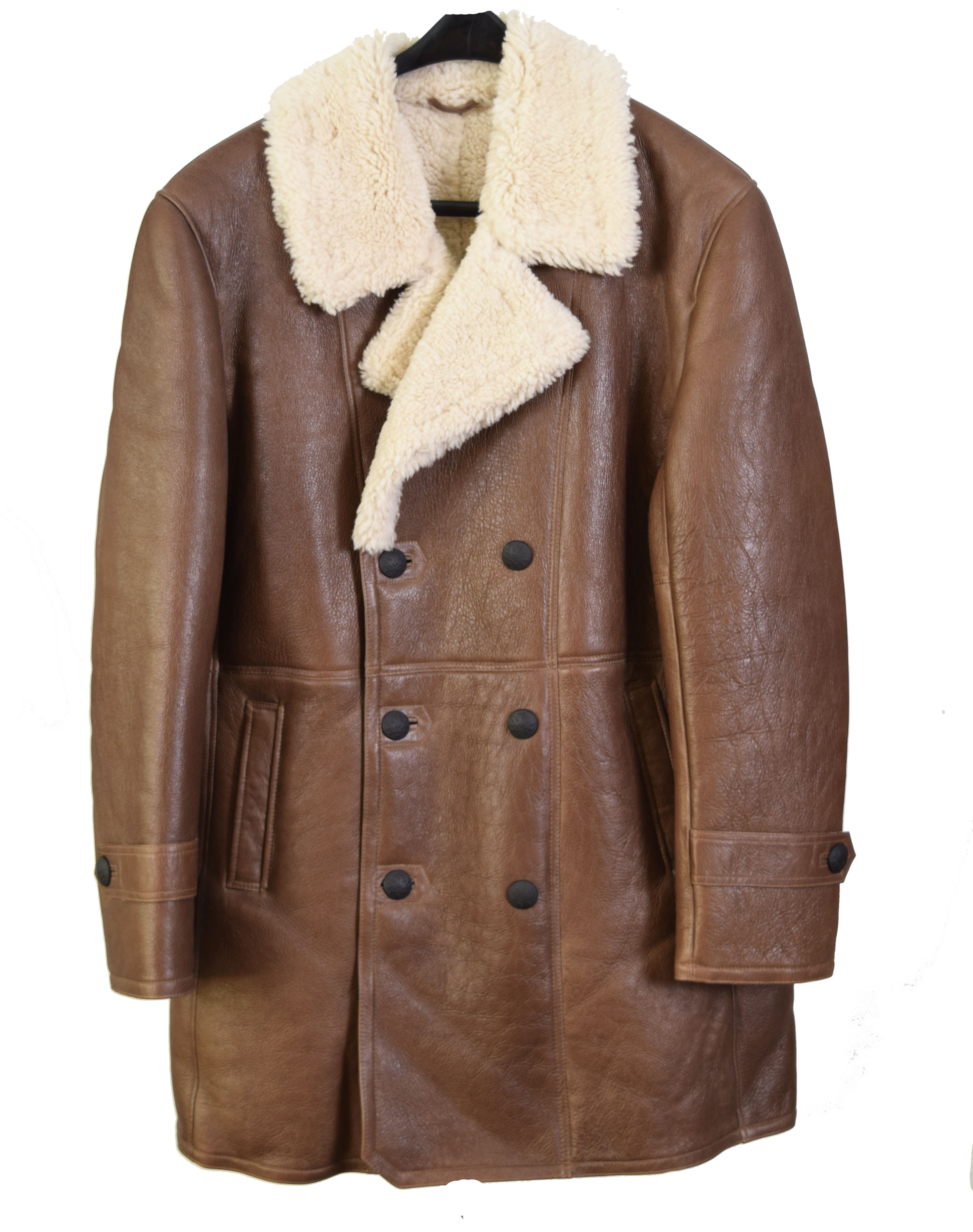 Mens Brown Trench Sheepskin