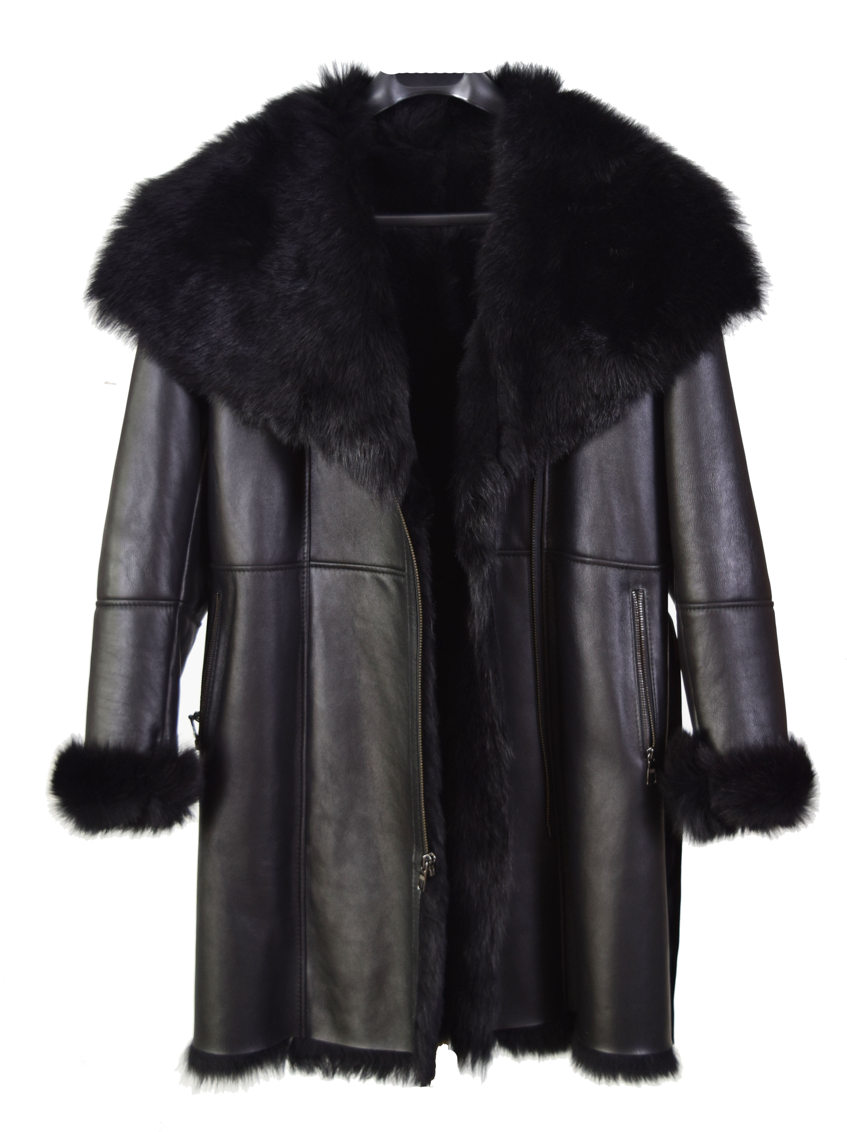 Ladies Merino Black Shearling